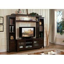 ACME Halden Entertainment Center - Bridge & Shelf - 91090 KIT - Merlot