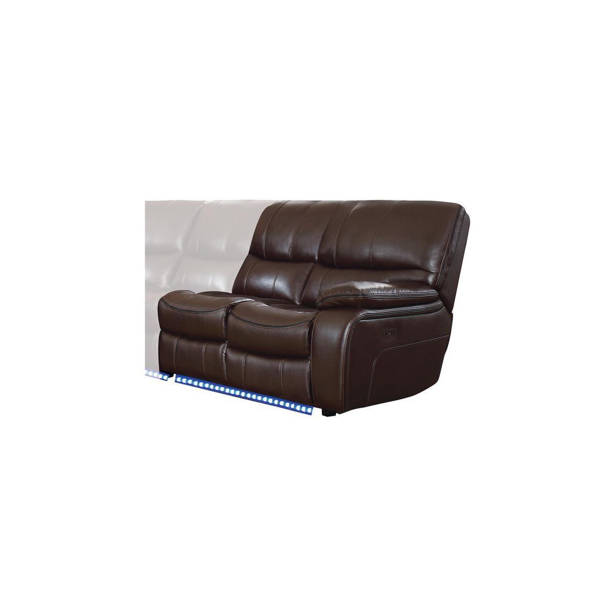 Power Right Side Reclining Love Seat with LED and USB Port