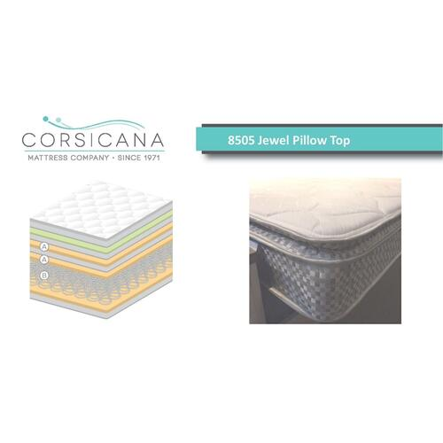 8505 Corsicana Jewel Pillow Top - Twin
