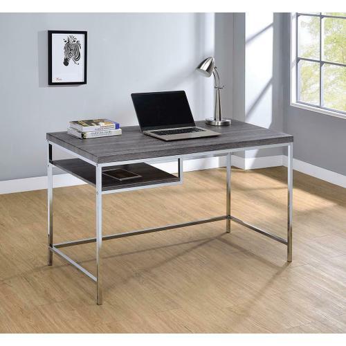 Coaster - Contemporary Weathered Grey Writing Desk