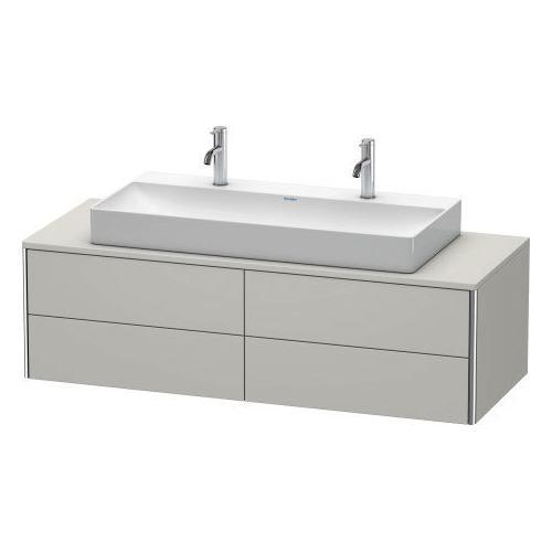 Duravit - Vanity Unit For Console Wall-mounted, Concrete Gray Matte (decor)