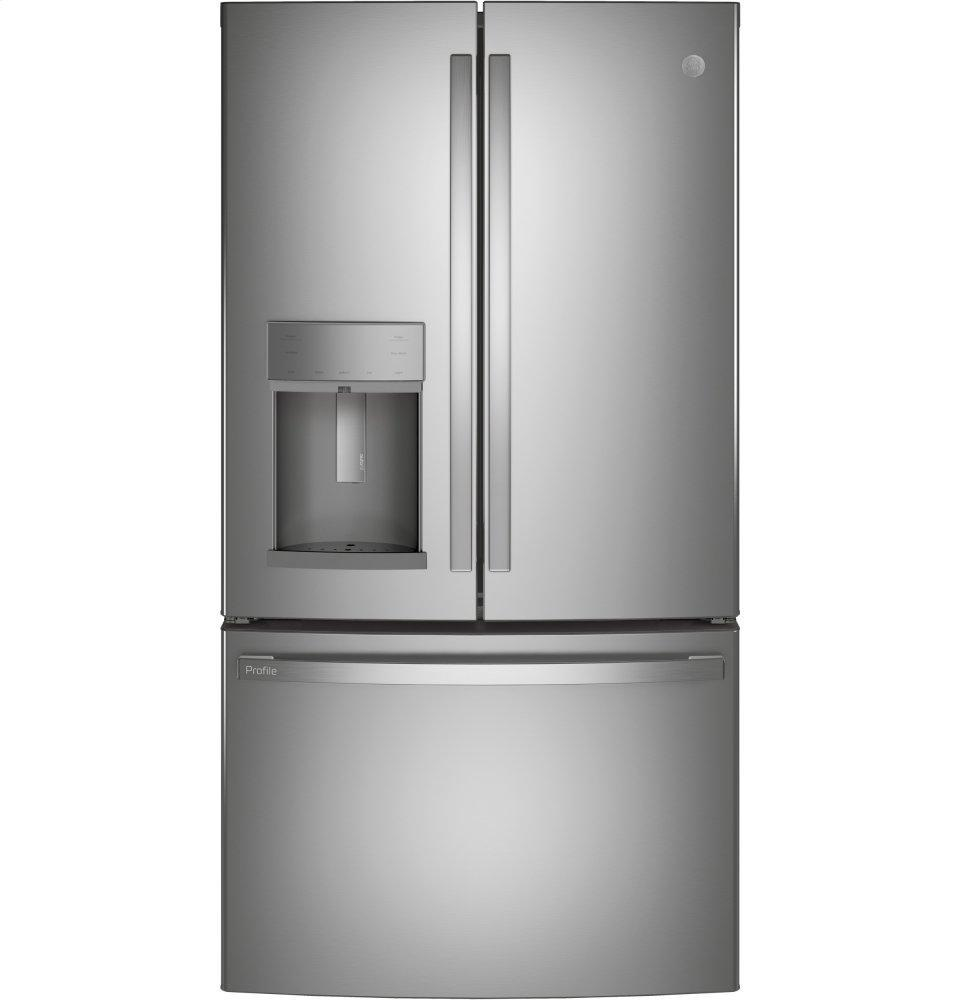 GE ProfileGe Profile™ Series Energy Star® 27.7 Cu. Ft. Fingerprint Resistant French-Door Refrigerator With Hands-Free Autofill