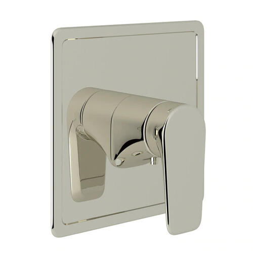Hoxton Thermostatic Trim Plate without Volume Control - Polished Nickel with Metal Lever Handle