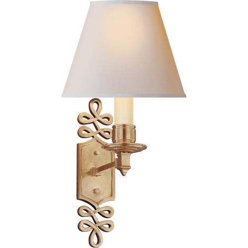 Alexa Hampton Ginger 1 Light 8 inch Natural Brass Decorative Wall Light