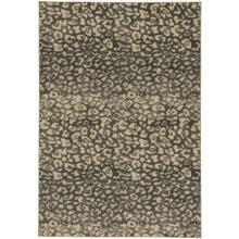 Leopard Charcoal Machine Woven Rugs