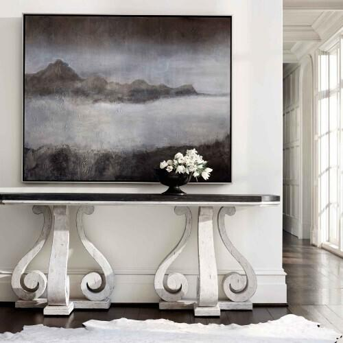 Gallery - Mirabelle Console Table in Cotton (304)