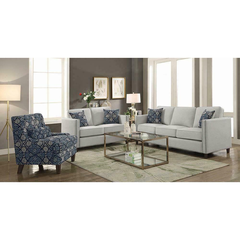 See Details - Coltrane Transitional Indigo Accent Chair