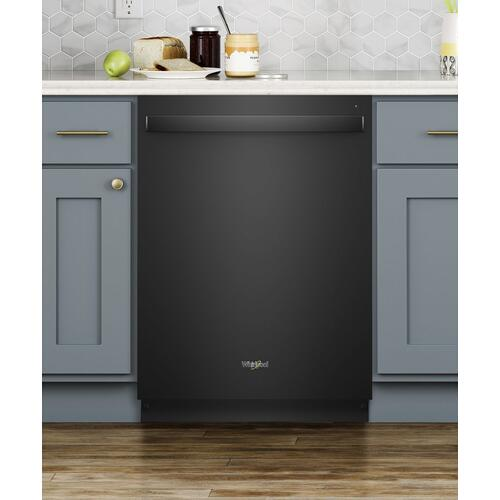 Stainless Steel Tub Dishwasher with TotalCoverage Spray Arm Black