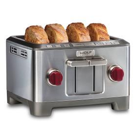 Four Slice Toaster Red Knob