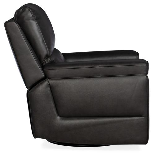Living Room Gable Leather PWR Swivel Glider w/ PWR Headrest