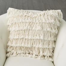 See Details - Fringe Pillow-Linen