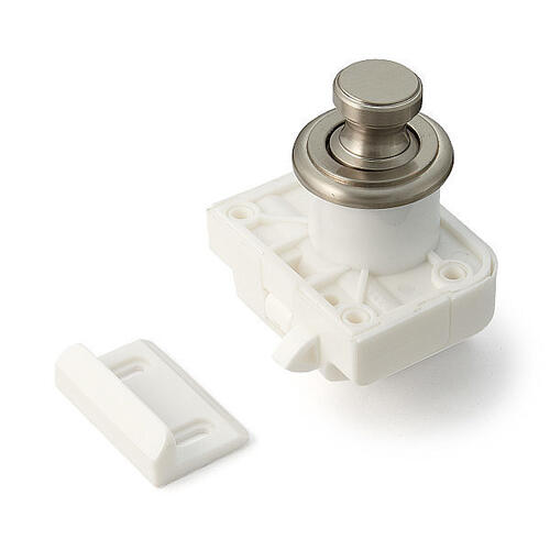 Push Knob Latch (round Knob, Satin Nickel)