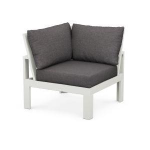 Polywood Furnishings - Modular Corner Chair in Vintage White / Ash Charcoal