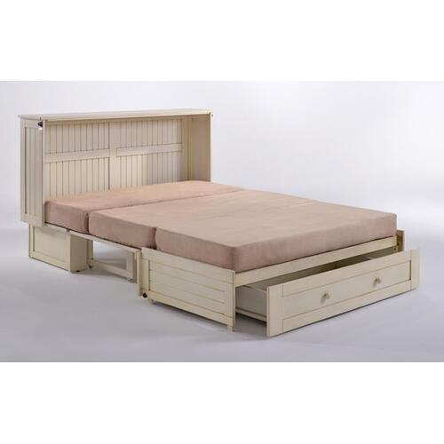 Daisy Murphy Cabinet Bed in White Finish