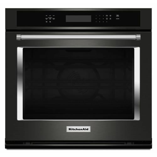 """KitchenAid Black Stainless - 30"""" Single Wall Oven with Even-Heat™ True Convection - Black Stainless Steel with PrintShield™ Finish"""