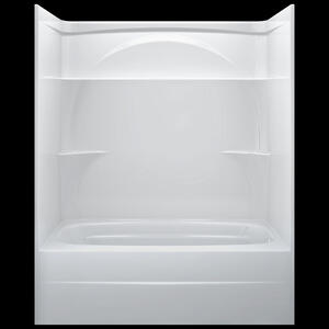 "High Gloss White 60"" x 32"" One Piece Tub Shower-Right Drain Product Image"