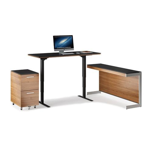 Lift Standing Desk 60 X 24 Top 6051 in Natural Walnut