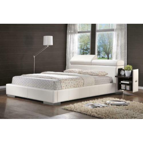 Maxine Upholstered Eastern King Bed White