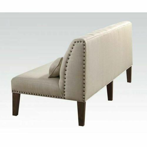 Acme Furniture Inc - ACME Inverness Banquette Bench - 66083 - Fabric & Salvage Oak