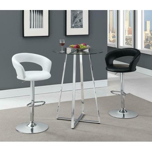 Rec Room Adjustable Bar Stool White