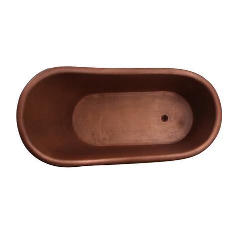 """Lawson 66"""" Copper Slipper Tub with Brass Feet"""