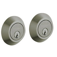 Antique Nickel Contemporary Deadbolt
