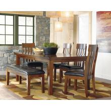 View Product - Ralene Dining Table W/4 Chairs and Bench Medium Brown