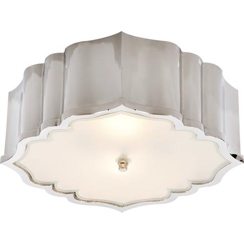 Alexa Hampton Balthazar 3 Light 14 inch Polished Nickel Flush Mount Ceiling Light