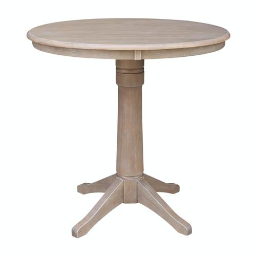 """36"""" Pedestal Table in Taupe Gray"""