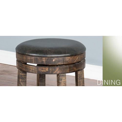"Sunny Designs - 24""H Barstool w/ Back & Swivel, Cushion Seat"