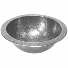 Classic Round Undermount Pewter Lavatory Sink