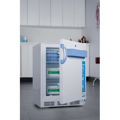 Built-in Undercounter ADA Compliant Medical/scientific -25 c Capable All-freezer With Front Control Panel Equipped With A Digital Thermostat and Nist Calibrated Thermometer/alarm
