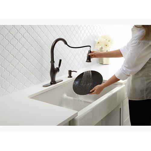 "Sea Salt 35-1/2"" X 21-9/16"" X 9-5/8"" Smart Divide Undermount Double-bowl Large/medium Farmhouse Kitchen Sink"