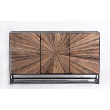 Astral Plains Reclaimed 3 Door Accent Cabinet-natural