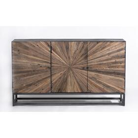Astral Plains Reclaimed 3 Door Accent Cabinet