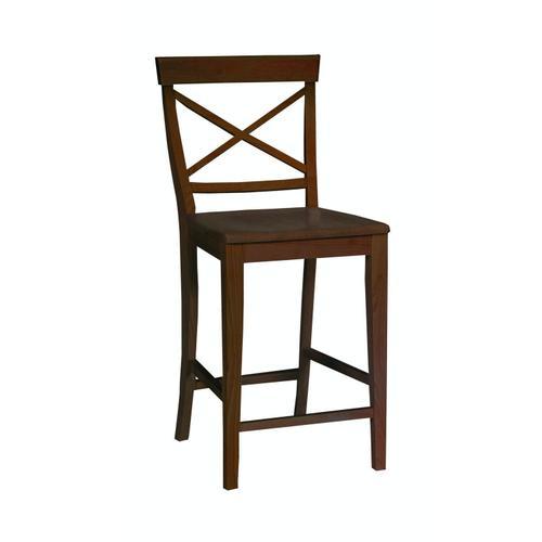 John Thomas Furniture - X-Back Stool in Espresso