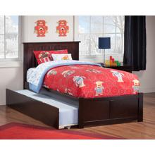Nantucket Twin Flat Panel Foot Board with Urban Trundle Bed Espresso