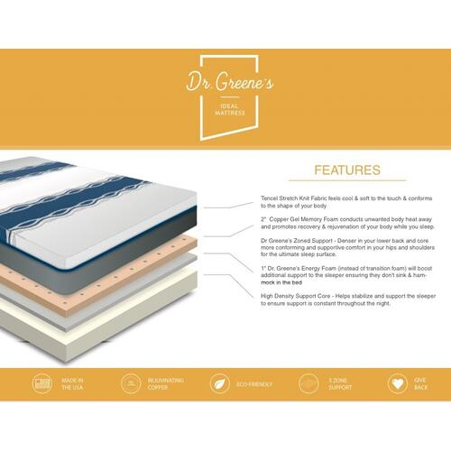 Dr Greene's - Ideal Mattress - Luxury Firm - Twin