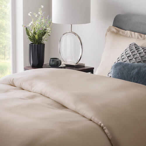 Rayon From Bamboo Duvet Set Oversized King Ivory