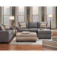 3900 Cosmopolitan Sofa-Chaise in Grey (Sofa-Chaise & Floating Ottoman)