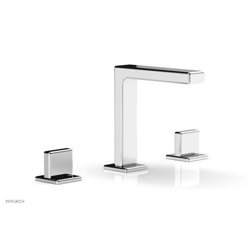 """MIX Widespread Faucet - Blade Handle 6-3/4"""" Height 290-01 - Polished Chrome"""