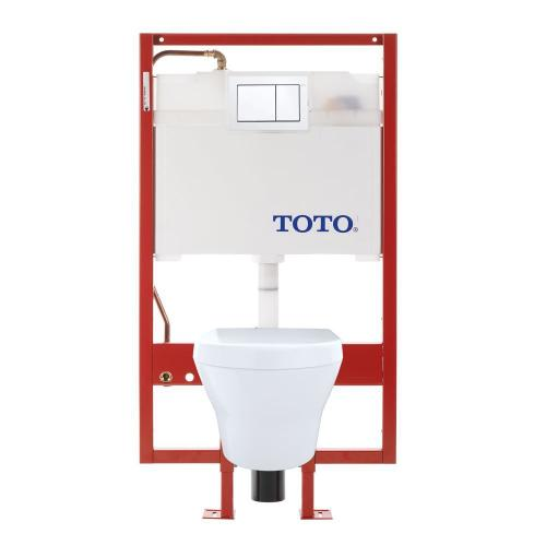 MH® Wall-Hung Toilet & DUOFIT In-Wall Tank System, 1.6 GPF & 0.9 GPF, Elongated Bowl - Pex Supply - Cotton