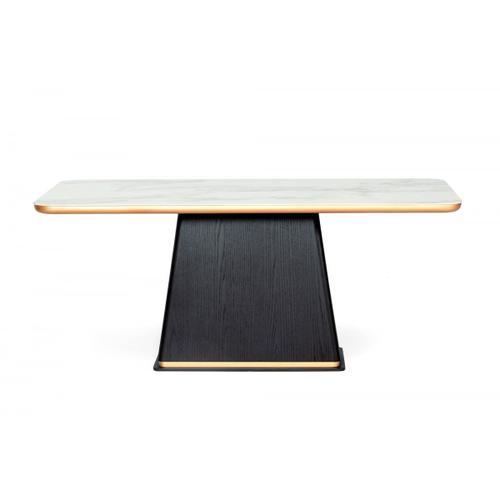 VIG Furniture - Modrest Peak - Modern Black Oak Dining Table