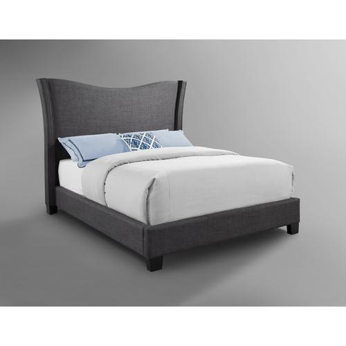 Carbon Upholstered Bed - King