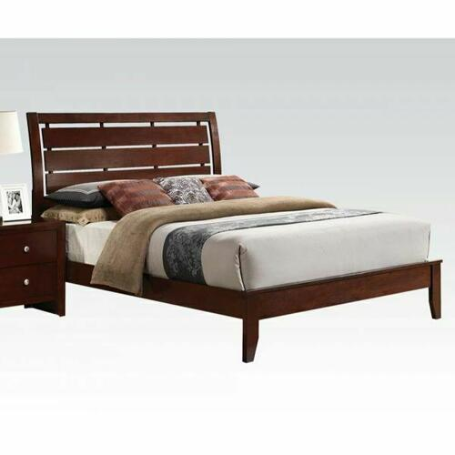 ACME Ilana Eastern King Bed - 20397EK-KIT - Brown Cherry