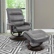 See Details - KNIGHT - ICE Manual Reclining Swivel Chair and Ottoman