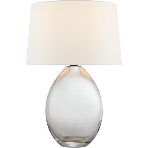 Chapman & Myers Myla 27 inch 100 watt Clear Glass Table Lamp Portable Light, Medium