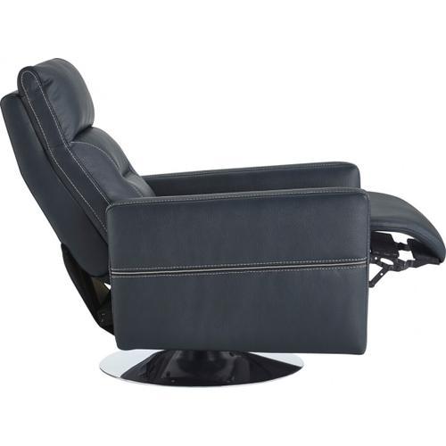 VIG Furniture - Divani Casa Nashua Modern Blue Leatherette Recliner Chair