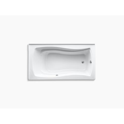 "Biscuit 66"" X 36"" Alcove Bath With Bask Heated Surface, Integral Apron, and Right-hand Drain"