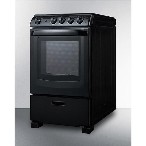 """Summit - 24"""" Wide Electric Smooth-top Range"""